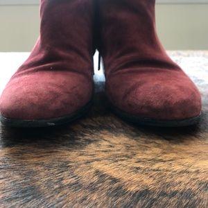 Sam Edelman Shoes - Wine Suede Sam Edelman Booties